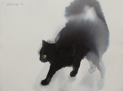 watercolor-black-cats-ink-paitings-endre-penovac-1